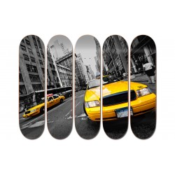 """Collection de 5 Boards personnalisées """"New York Yellow Cab"""""""