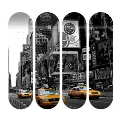 """4 Boards personnalisées """"New York Yellow Cab"""""""