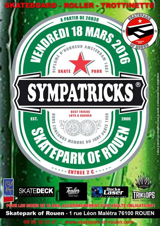 Contest SympaTricks Skatepark of Rouen