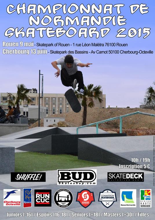 Championnat de Normandie skateboard 2015