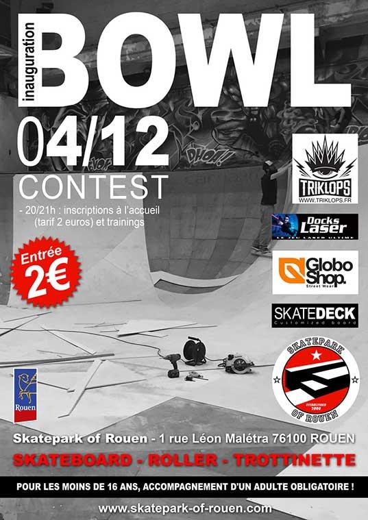 Inauguration du Bowl au skatepark of Rouen