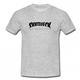 Tee shirt skatedeck gris chiné style thrasher