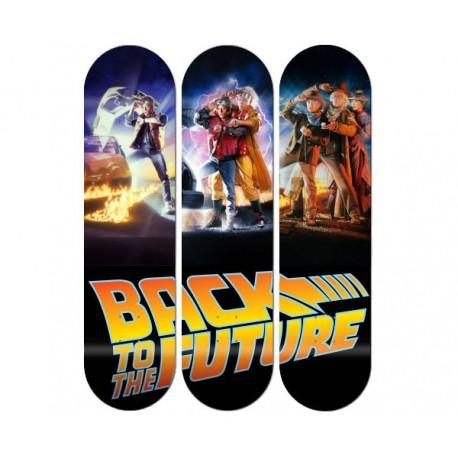 Triptique Skates personnalisés Back to the future