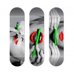 Triptique Skates personnalisés Smoking Roll