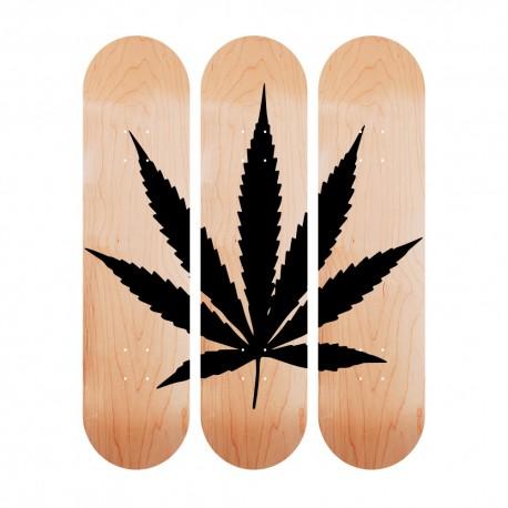"""triptyque """"Feuille de cannabis"""""""