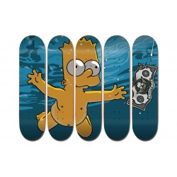 "Collection de 5 Boards personnalisées ""Bart Simpsons Nirvana"""