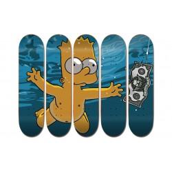 """Collection de 5 Boards personnalisées """"Bart Simpsons Nirvana"""""""
