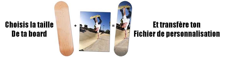 Réalisation planche de Skate personnalisée en ligne